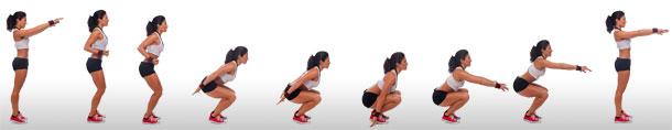 Hindu squats knees